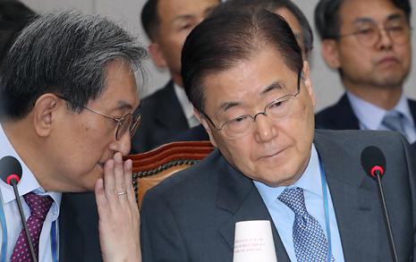 """정의용 안보실장 """"남북관계, 어려운 국면에 있다"""""""