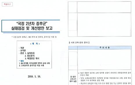 청와대가 '국정 2년차 증후군' 특별보고문건을 공개한 이유