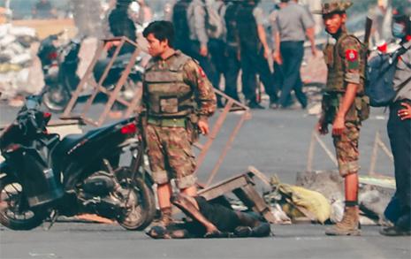 """600명이 목숨 잃었는데도... 미얀마 군부 """"폭력 시위대 탓"""""""
