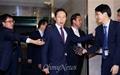 [오마이포토] '선진한반도포럼' 참석한 이명박 전 대통령