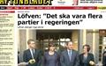 스웨덴 좌파연합, 정권탈환... 새 총리는 '용접공' 출신