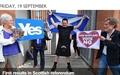 스코틀랜드 독립 부결... '꿈'보다 '안정' 택했다
