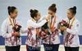 [오마이포토] 리듬체조 첫 은메달, 기쁨의 눈물