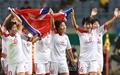 [오마이포토] 북한 여자축구 금메달 획득