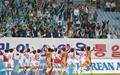 """[오마이포토] 북한 여자축구 """"응원 감사합니다"""""""