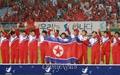 [오마이포토] 북한 선수들 '멋진 응원 감사합니다'