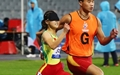 [오마이포토] 함께 뛰는 '신뢰의 달리기'