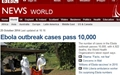 에볼라 감염자 1만 명 돌파... 발병 국가 초비상