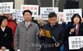 [오마이포토] 강제해산 당한 통합진보당 의원단