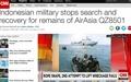 추락한 에어아시아 여객기... 잔해 수거작업 중단