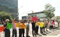 재미한인들, 평화협정 체결-탄저균 규탄 시위