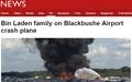 오사마 빈 라덴 가족, 영국서 비행기 추락사
