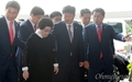 [오마이포토] 3박 4일 일정으로 방북하는 이희호 김대중평화센터 이사장