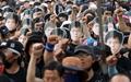 [오마이포토] 민주노총 조합원 '한상균 가둘 수 없다'