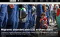헝가리 서유럽 행 열차 중단, 울부짖는 난민들