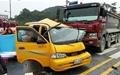 충주 교통사고, 적색 점멸신호가 화 불렀다
