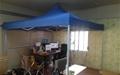 텐트 치고 온수매트 깔고... 여기 사무실 맞아요