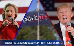 힐러리 vs. 트럼프, 드디어 '토론 배틀' 펼친다