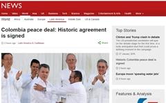 콜롬비아 평화협정 서명, 52년 내전 '마침표'