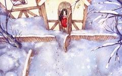 하얀 세상에 나타난 숲속 소녀와 루돌프