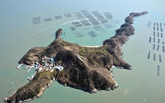 공룡을 닮은 신기한 섬