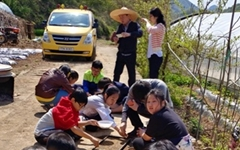 [모이] 대가초등학교 어린 농부들과 못자리 만들다