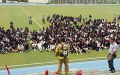 [모이] 강릉 산불 이후, 일선 학교 합동 소방훈련 현장
