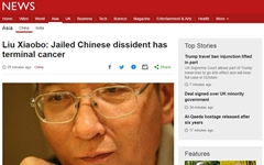 '노벨평화상' 중국 류샤오보, 간암 말기 '가석방'