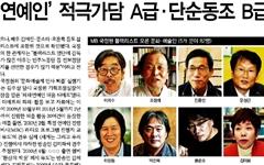 'MB 블랙리스트', 이틀간 <동아><중앙>은 무보도, <조선>은 단 1건