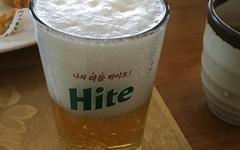 북한 금강산에서 발견한 남한 하이트 맥주잔