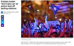 스페인-카탈루냐 분리독립 주민투표 강행 '초긴장'