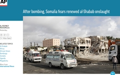 """사상 최악 테러에 사망자 400명 넘을 듯... """"소말리아판 9·11"""""""