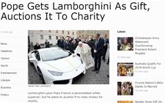 슈퍼카 선물 받은 프란치스코 교황, 어떻게 했을까