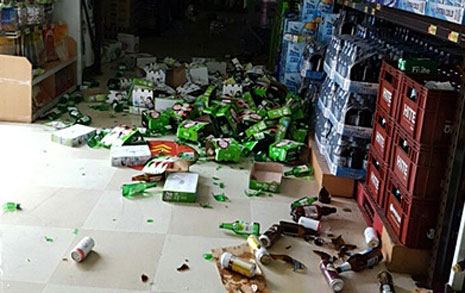 지진나자 정규직은 퇴근,  비정규직만 일 시킨 마트