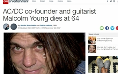 'AC/DC' 신화 이끌었던 말콤 영, 세상을 떠나다