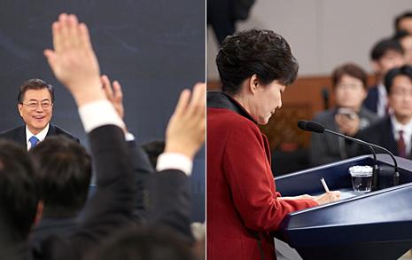 """""""박근혜 신년기자회견과 비교짤 생기겠네""""... 여기 있습니다"""