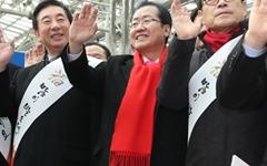 """홍준표의 구애 """"오세훈, 한국당의 제일 중요한 자산"""""""