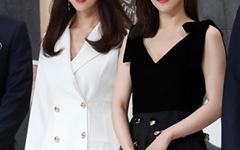 [오마이포토] '인형의 집' 왕빛나-박하나, 궁합 잘맞는 흑백패션