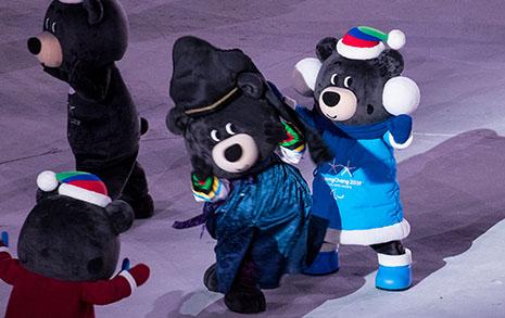 [오마이포토] 패럴림픽 폐회식 시작은 '댄스머신' 반다비