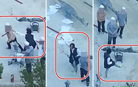이명희 추정 '폭행 영상' 공개 잡아채고, 밀치고... '갑질 난동'