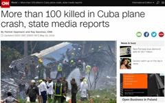 116명 태운 쿠바 항공기 추락 '100명 이상 사망·3명 생존'