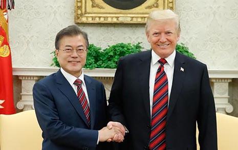 한미 정상, 북한 체제 불안 해소방안 논의했다