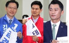 경남지사 1위 김경수, 김태호와 18%P 격차 유지