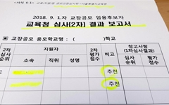 학교 추천 '1순위' 교장 후보들, 교육지원청에서 탈락시켜