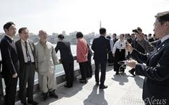 [오마이포토] 이재용-홍석현 대동강변에서 기념촬영