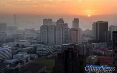 [영상] 알록달록 고층 건물들... 카메라에 담긴 평양의 가을