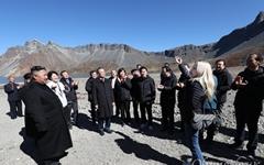 [오마이포토] 백두산에 울려 퍼진 '알리'의 진도아리랑