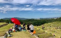 [사진] 동해 하늘공원, 추석 성묘객 북적