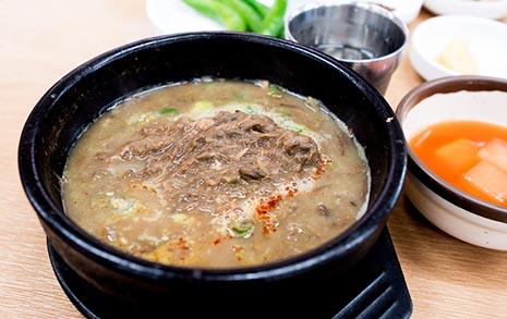 소고기 씹는 맛이 나는  제주 '고사리 육개장'
