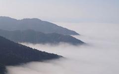 아내와 함께 오른 구례 오산에서 구름바다를 만나다